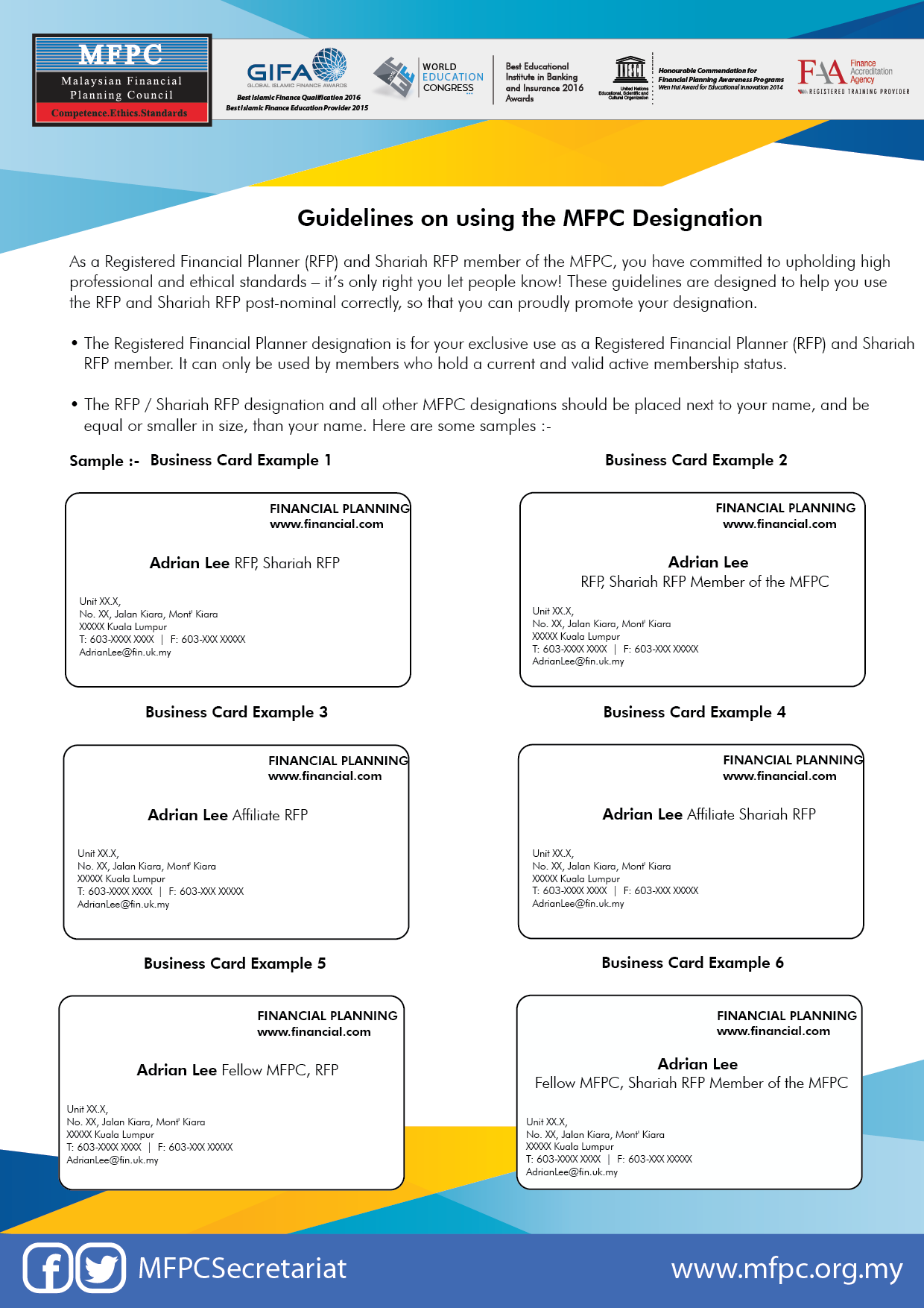 Membership Guidelines Malaysian Financial Planning Council
