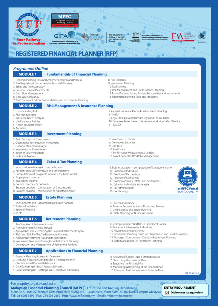 Registered Financial Planner Rfp Malaysian Financial Planning