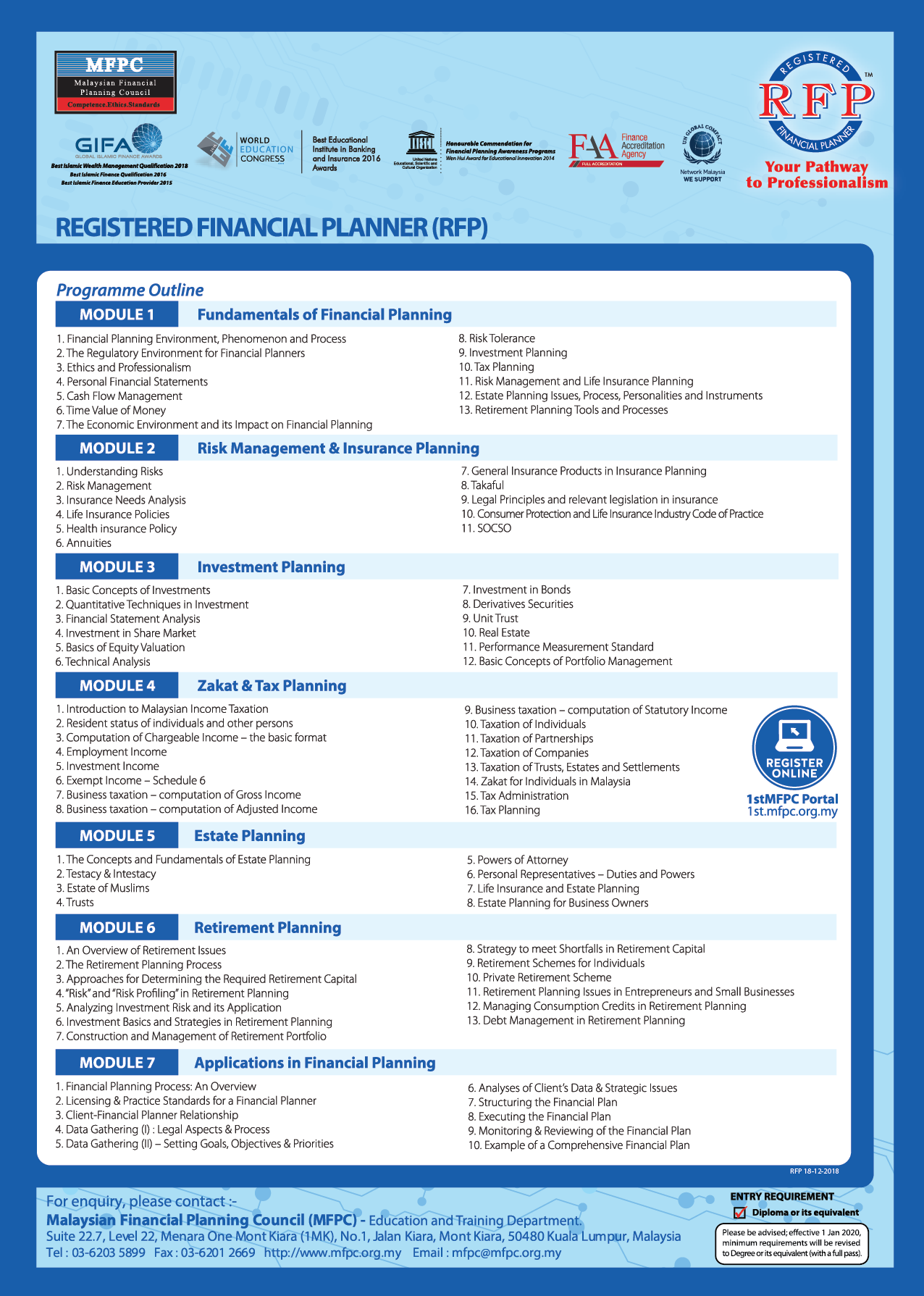 Registered Financial Planner (RFP) - Malaysian Financial